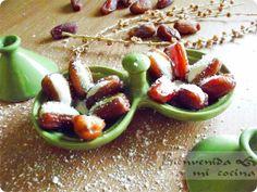 Dátiles rellenos de pasta de almendra