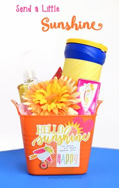 Sunshine-in-a-Bucket to cheer up a friend or give as a housewarming gift.