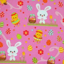 Knit Basics Easter Bunny fabric. So cute!! #afflink