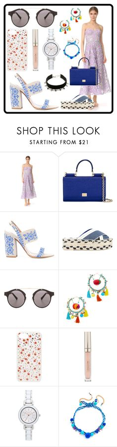 """Fashion Shopping..."" by mkrish ❤ liked on Polyvore featuring Notte by Marchesa, Dolce&Gabbana, Tabitha Simmons, STELLA McCARTNEY, Spitfire, Rosantica, Sonix, Stila, DKNY and Vanessa Mooney"
