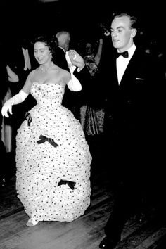 Princess Margaret dancing with only God knows who (lol) at an event.