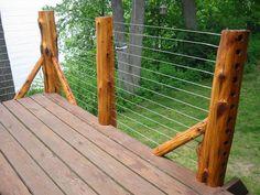 modern deck railing - Google Search
