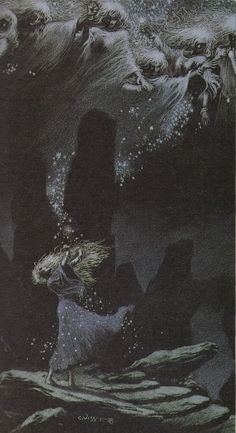 """""""Slow Dance of the Infinite Stars"""" by Charles Vess, from Neil Gaiman's """"Stardust"""":"""