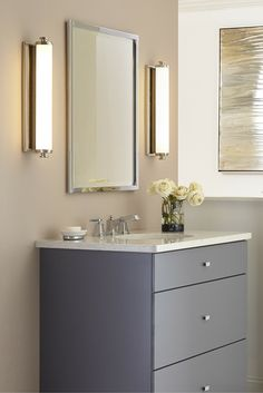 Wall With Integrated Led The Edgebrook Lighting Collection Of Modern Bath Bars By Feiss Delivers Both Pinterest 117 Best Bathroom Lighting Ideas Images Bathroom Lighting Fixtures