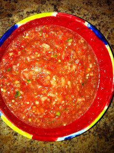 Recipes We Love: Quick Garden Salsa ( Using a Frozen cilantro and cube frozen garlic cube) Spicy Recipes, Mexican Food Recipes, Real Food Recipes, Healthy Recipes, Dip Recipes, Best Appetizers, Appetizer Recipes, Recipe R, Good Food