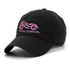 Steel Cowgirl ladies motorcycle baseball hat
