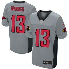 Limited Kurt Warner Mens Jersey - Arizona Cardinals 13 Grey Shadow Nike NFL