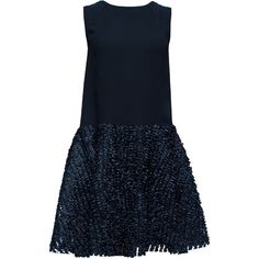 LATTORI Mere Magnificence, Sleeveless Black Cocktaik Dress ($349) ❤ liked on Polyvore featuring dresses, short dress, lining dress, sleeveless pleated dress, pleated dress, fancy dress and fancy short dresses