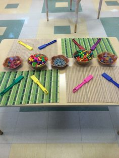 Magnet fun! We put out magnet wands with different materials at morning center time for endless magnetic exploration!