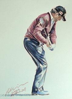 2b542381523 Graeme McDowell by Mark Robinson Golf Art - Paintings of famous golf stars  by mark robinson