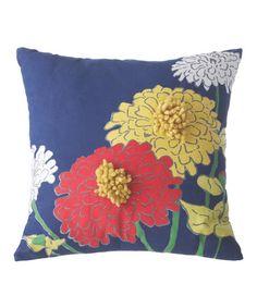 Another great find on #zulily! Blue Zinnia Pillow #zulilyfinds