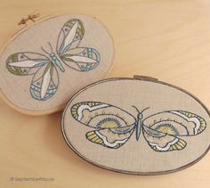 butterfly embroidery by septemberhouse