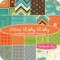 Here Fishy Fishy Fat Quarter Bundle Heather Mulder Peterson for Henry Glass Fabrics - Fat Quarter Shop