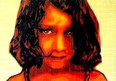 Red Girl / tape art