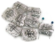 5 inspirational 2 hole slider beads 11198