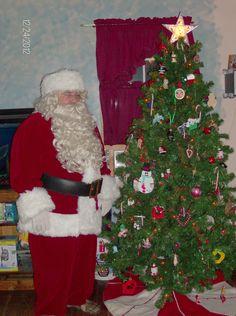 Santa at our house