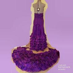 BATA DE COLA CON CREMALLERA Fishtail, Trumpet, Mermaid, Disney Princess, Sewing, Belly Dance, Amor, Bata De Cola, Spanish Style