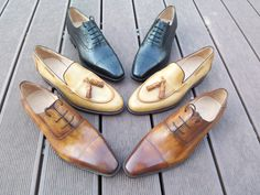 Bespoke Made to Measure custom hand colored men's dress shoes