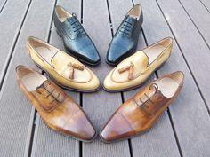Bespoke Made to Measure custom hand colored men's dress shoes