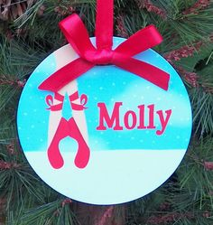 Personalized Ballerina in Snow Ornament  Two by ThatPartyChick, $15.00