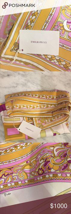 Emilio Pucci rolled edge silk scarf. Emilio Pucci rolled edge silk scarf. Emilio Pucci Accessories Scarves & Wraps