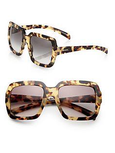 Prada 56 MM Square-Frame Sunglasses