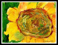 Magical Sunflower Given to Me 2014 Plain Air OIL Painting FINE ART PRINT Signed  | eBay #giant #sunflower #face #flowers #sunshine #calendargirls #plainair #painting #pleinaire #impressionist #modernart #brightyellow #modernart #cathypeterson #Ventura