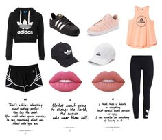 """""""Untitled #85"""" by mrgrdsantos ❤ liked on Polyvore featuring Topshop, adidas, adidas Originals and Lime Crime"""