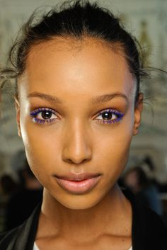 32b9ff1ccd ghesquiereous  jasmine tookes and cora emmanuel backstage at stella  mccartney fall rtw 2012 Purple Mascara