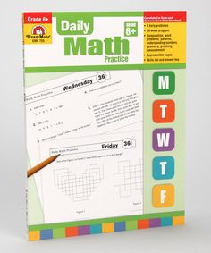 Take a look at this Daily Math Practice: Grade 6 Workbook by Evan-Moor Educational Publishers on #zulily today!