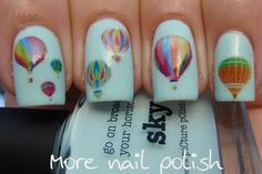 Hot air balloon nails for an adventure ~ More Nail Polish