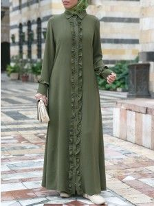 Shop our latest collection of stylish Islamic women's clothing. Our clothing is made with halal and ethical production standards in mind. Abaya Fashion, Muslim Fashion, Skirt Fashion, Fashion Outfits, Fasion, Kaftan Designs, Hijab Style Dress, Islamic Clothing, Fashion Design Sketches