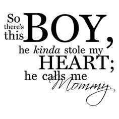 So There's This Boy He Kinda Stole My Heart He by VinylLettering, $9.99