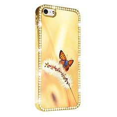 Butterfly Warm Shade Gold iPhone 5/5S Case Luxury Style Cover Diamond Crystal Rhinestone Bling Hard Gold Case Cover for iPhone 5 and 5S PAZATO http://www.amazon.com/dp/B00NPPW88E/ref=cm_sw_r_pi_dp_Ynziub1BZRRCT