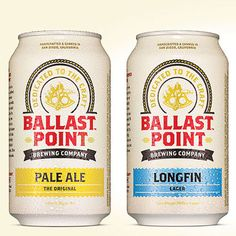 Creative Beer, Ballast, Point, Cans, and Label image ideas & inspiration on Designspiration Ballast Point, Label Image, Beer Packaging, Beer Label, Best Beer, Wine And Spirits, Brewing Company, Beer Lovers, Bottle Design