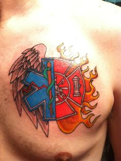 Fire and Paramedic, i would never get this, but i think it is so cool!!