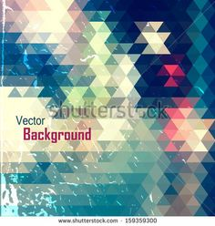 Colorful abstract geometric background  by Velvet M, via ShutterStock