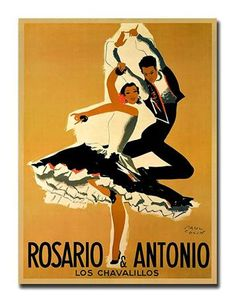 """""""Rosario & Antonio"""" by Paul Colin - Giclee Repoduction Canvas Wall Art"""