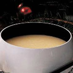 Lemon Fondue Recipe - As pretty as it is luscious, this sunshiny sauce is a lovely complement to angel food or pound cake