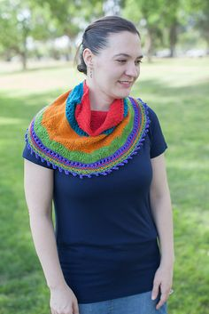 Ravelry: Rory's Study Cowlette pattern by Jessica Anderson, knit in Mountain Colors Perspectives Crazyfoot