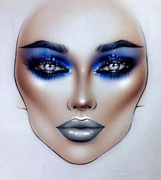 "10.8k Likes, 69 Comments - Sergey X (@milk1422) on Instagram: ""#artist@milk1412 ✨ blue+grey #mylove #myart #myartistcommunity #myartistcommunityrussia #makeup…"""
