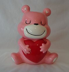 COOKIE JAR ~ PINK TEDDY BEAR WITH HEART Targets http://www.amazon.com/dp/B00QPIZTRA/ref=cm_sw_r_pi_dp_LtCnvb1544ZF1