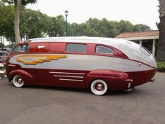 This stylish motorhome was built in 1937. Dubbed the Zeppelin by its current owner, famed customizer Art Himsl