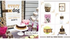 Real Pooches - Real Parties: Leopard Print Dog Party #poochpawty