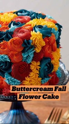 Beautiful Cake Designs, Beautiful Cakes, Wilton Cake Decorating, Cookie Decorating, Cakes Originales, Buttercream Cake, Frosting, Icing, Fall Cakes