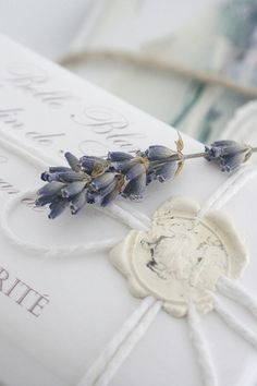 Beautiful packing with a wax seal and lavender