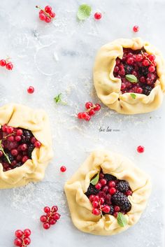 Handmade Sour Cream Tartlets with Summer Berries