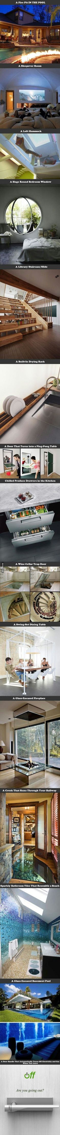 Funny pictures about Things That Should Be Included In My Future House. Oh, and cool pics about Things That Should Be Included In My Future House. Also, Things That Should Be Included In My Future House photos. Future House, My House, Room Deco, House Ideas, Cool Inventions, Interior Exterior, Interior Ideas, Interior Design, Interior Decorating