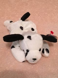 33a9959cbad TY Beanie Baby - DOTTY the Dalmatian Dog - Pristine with Mint Tags - PE  Pellets - Retired