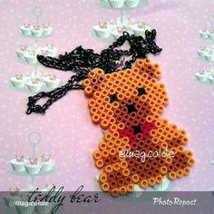Teddy bear hama beads by jasapromotetermurah
